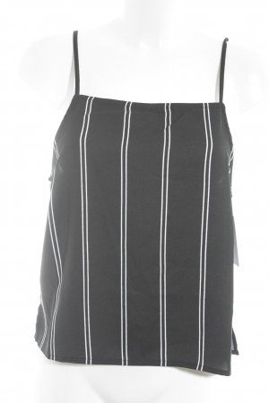 Nakd Cropped Top schwarz-weiß Streifenmuster Casual-Look