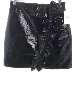 Nakd High Waist Skirt black wet-look