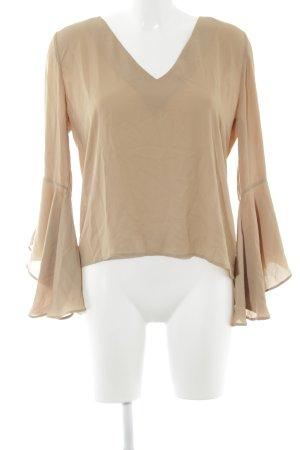 Nakd Langarm-Bluse beige Casual-Look
