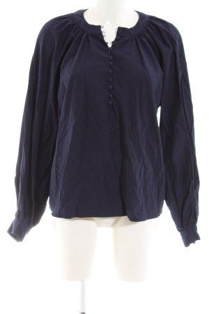 Nakd Langarm-Bluse dunkelblau schlichter Stil