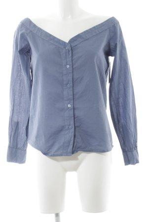 Nakd Langarm-Bluse stahlblau Casual-Look