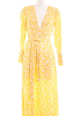 Nakd Maxi Dress yellow abstract pattern beach look