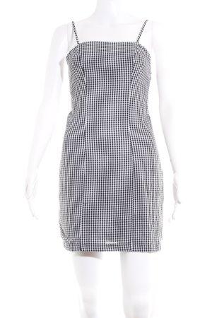 Nakd Minikleid schwarz-weiß Karomuster Country-Look