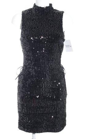 Nakd Abito con paillettes nero con glitter