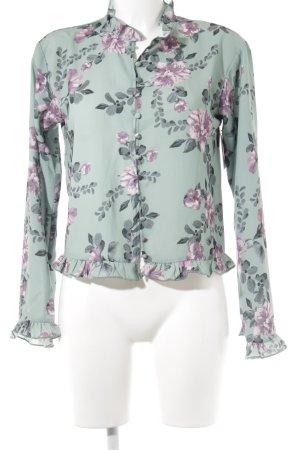 Nakd Rüschen-Bluse florales Muster Romantik-Look