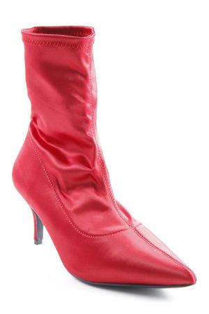 Nakd Schlüpf-Stiefeletten rot extravaganter Stil