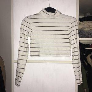 Nakd Cropped Shirt white-black