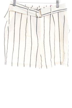 Nakd Shorts creme-schwarz Streifenmuster Casual-Look