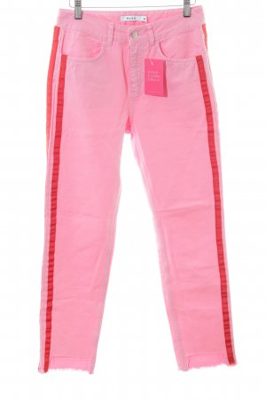 Nakd Slim Jeans pink-rot Streifenmuster Casual-Look