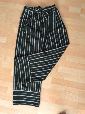 Nakd Pantalone a vita alta bianco-verde scuro