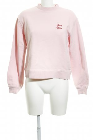 Nakd Sweat Shirt pink-dark red embroidered lettering casual look