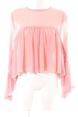 Nakd Transparenz-Bluse pink Elegant