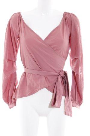 Nakd Blusa cruzada color rosa dorado look casual