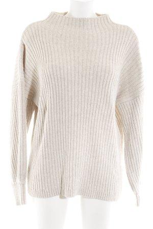 Nakd Jersey de lana blanco puro punto trenzado elegante
