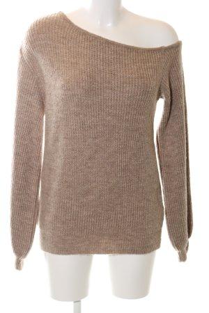 Nakd Jersey de lana nude punto trenzado look casual
