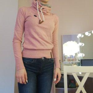 Naketano Jersey de cuello alto rosa