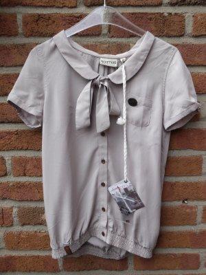 Naketano Bluse Shortsleeve Shirt Kurz Kacken III Taupe Grey S Neu