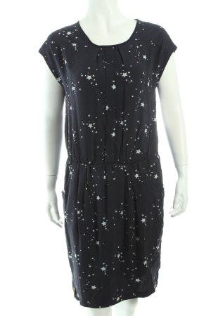 Naketano Blusenkleid dunkelblau-hellgrau Sternenmuster sportlicher Stil