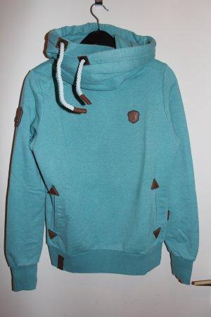 Naketano Darth Hoodies Pullover Damen Gr. M grün blau