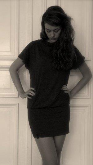 Naketano Vestido de tela de sudadera marrón oscuro-marrón