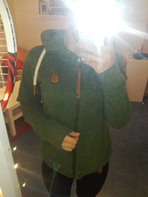 Naketano Fleece jack bos Groen