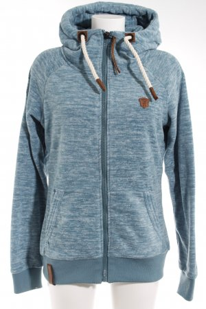 Naketano Fleecejacke petrol meliert Casual-Look