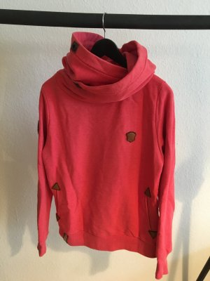 Naketano Capuchon sweater rood-lichtrood