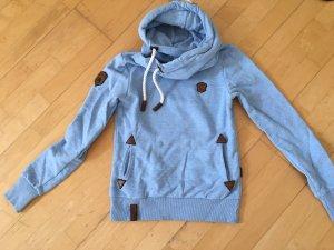 Naketano Jersey con capucha azul celeste