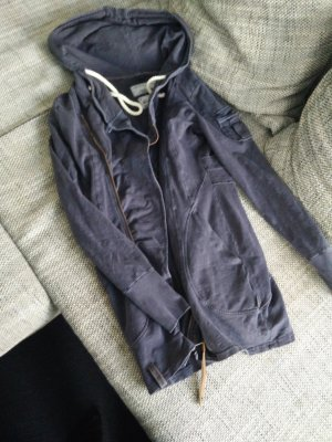 Naketano Hoodie Sweater Cardigan Jacke Übergangsjacke Mantel blau S/36