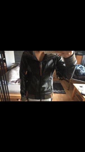Naketano Leather Jacket black-brown