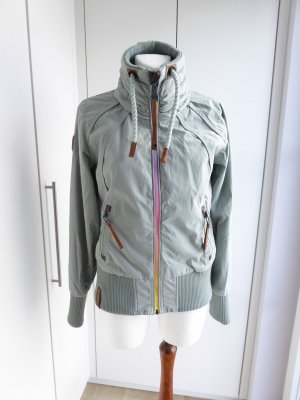 Naketano Outdoor Jacket silver-colored-sage green cotton