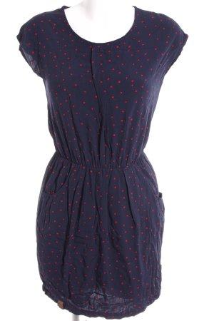 Naketano Jerseykleid dunkelblau-rot Sternenmuster Casual-Look