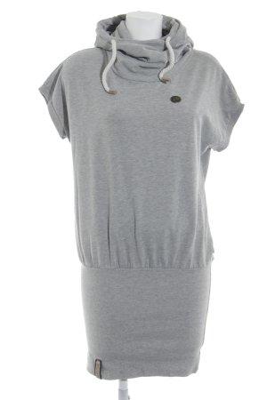 Naketano Hooded Dress grey flecked casual look