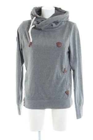Naketano Maglione con cappuccio grigio chiaro stile casual