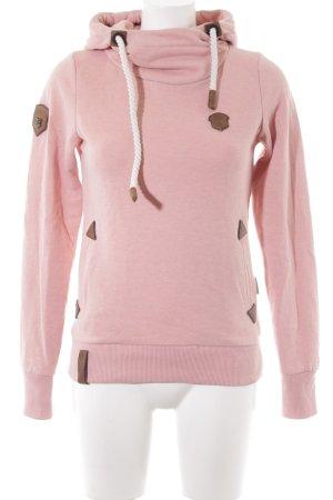 Naketano Capuchon sweater abrikoos skater stijl