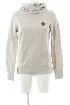 Naketano Hooded Sweater natural white flecked casual look