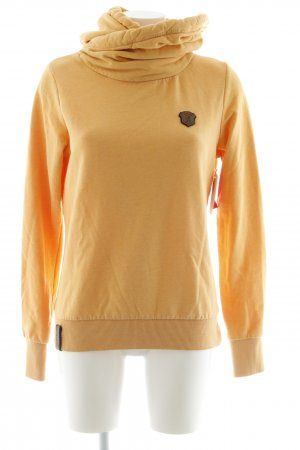 Naketano Hooded Sweater gold orange casual look