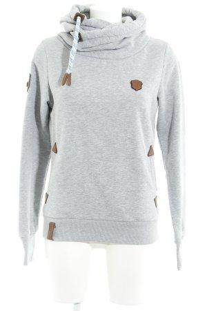 Naketano Jersey con capucha gris claro moteado estilo marinero