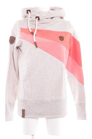 Naketano Hooded Sweater flecked casual look