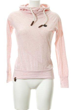 Naketano Kapuzenpullover rosa-weiß meliert Casual-Look