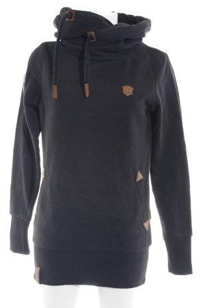 Naketano Capuchon sweater zwart casual uitstraling