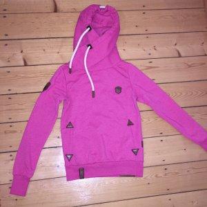 Naketano Jersey con capucha rosa-rosa neón