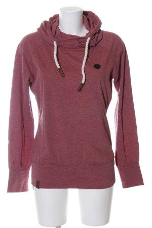 Naketano Kapuzensweatshirt rot-schwarz meliert Casual-Look