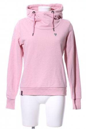Naketano Hooded Sweatshirt pink casual look