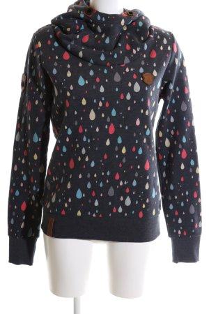 Naketano Kapuzensweatshirt abstraktes Muster Casual-Look