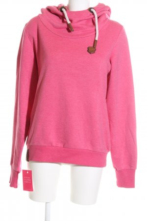 Naketano Hooded Sweatshirt pink-bronze-colored casual look