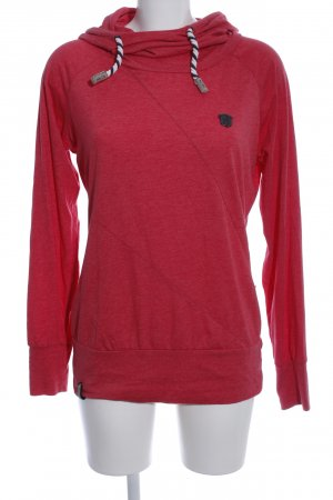 Naketano Hooded Sweatshirt red casual look