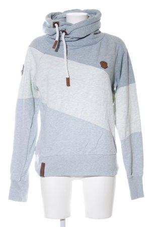 Naketano Kapuzensweatshirt blau-hellgrau Streifenmuster Casual-Look
