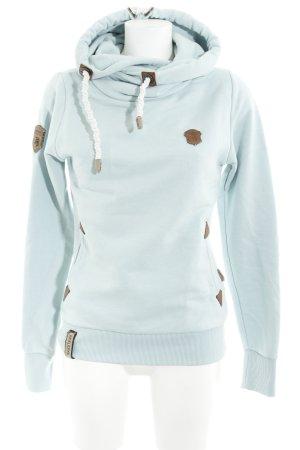 Naketano Kapuzensweatshirt babyblau-braun Street-Fashion-Look