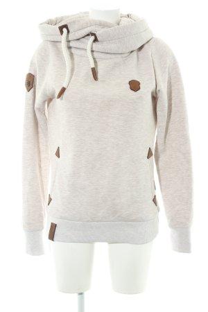 Naketano Kapuzensweatshirt creme-hellbeige meliert Casual-Look